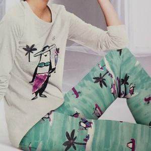 HUE Penguin on Vacation Pajama Set